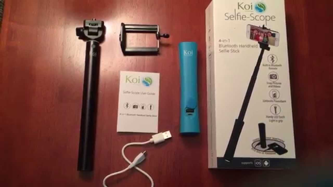 2ade53156ad43d 4-in-1 Selfie Stick, Powerbank, LED Flashlight + - YouTube