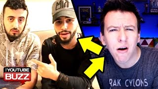 Arabic YouTubers Kicked Off Airplane - Adam Saleh & Slim VS Philip Defranco