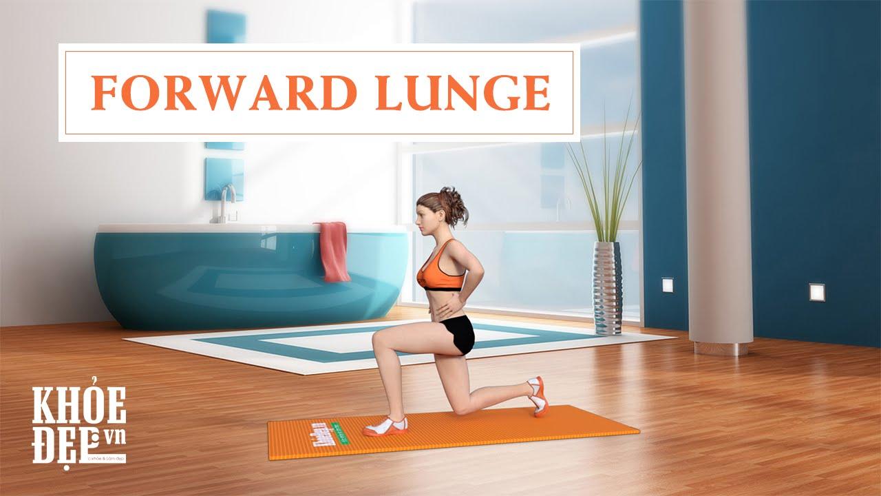 Làm sao có vòng 3 to của Elly Trần: Bài tập mông #7 Forward Lunge   KhoeDep.vn