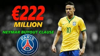 PSG READY TO PAY €222 MILLION  NEYMAR BUYOUT CLAUSE