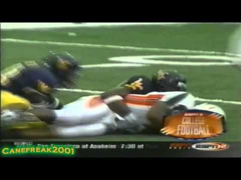 2002 Miami Hurricanes vs West Virginia Highlights