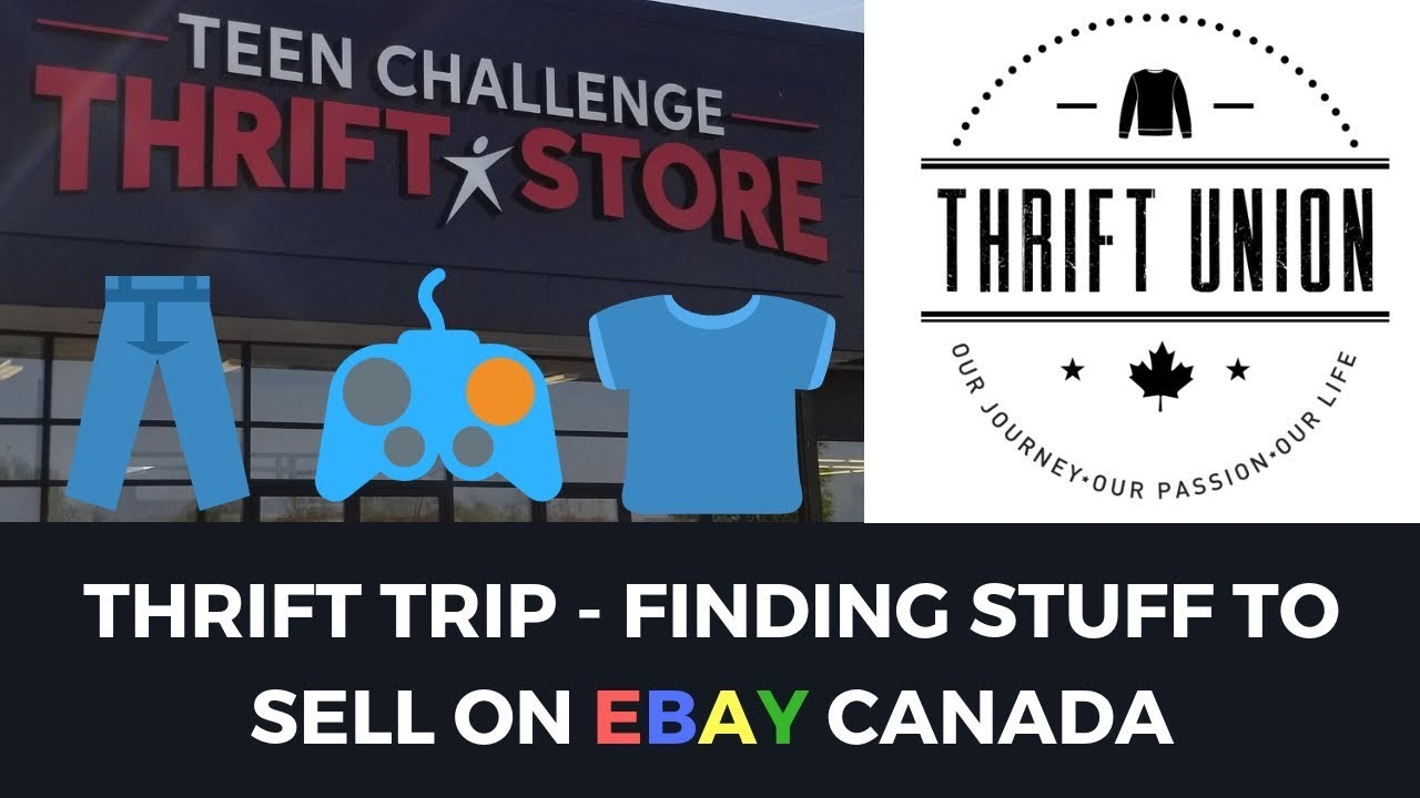 Thrift Trip Finding Stuff To Sell On Ebay Canada Youtube