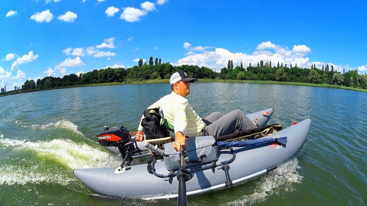 Надувное кресло для ПВХ лодки и рыбалки - YouTube