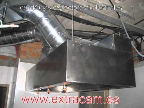Campanas extractoras industriales youtube for Instalacion cocina industrial