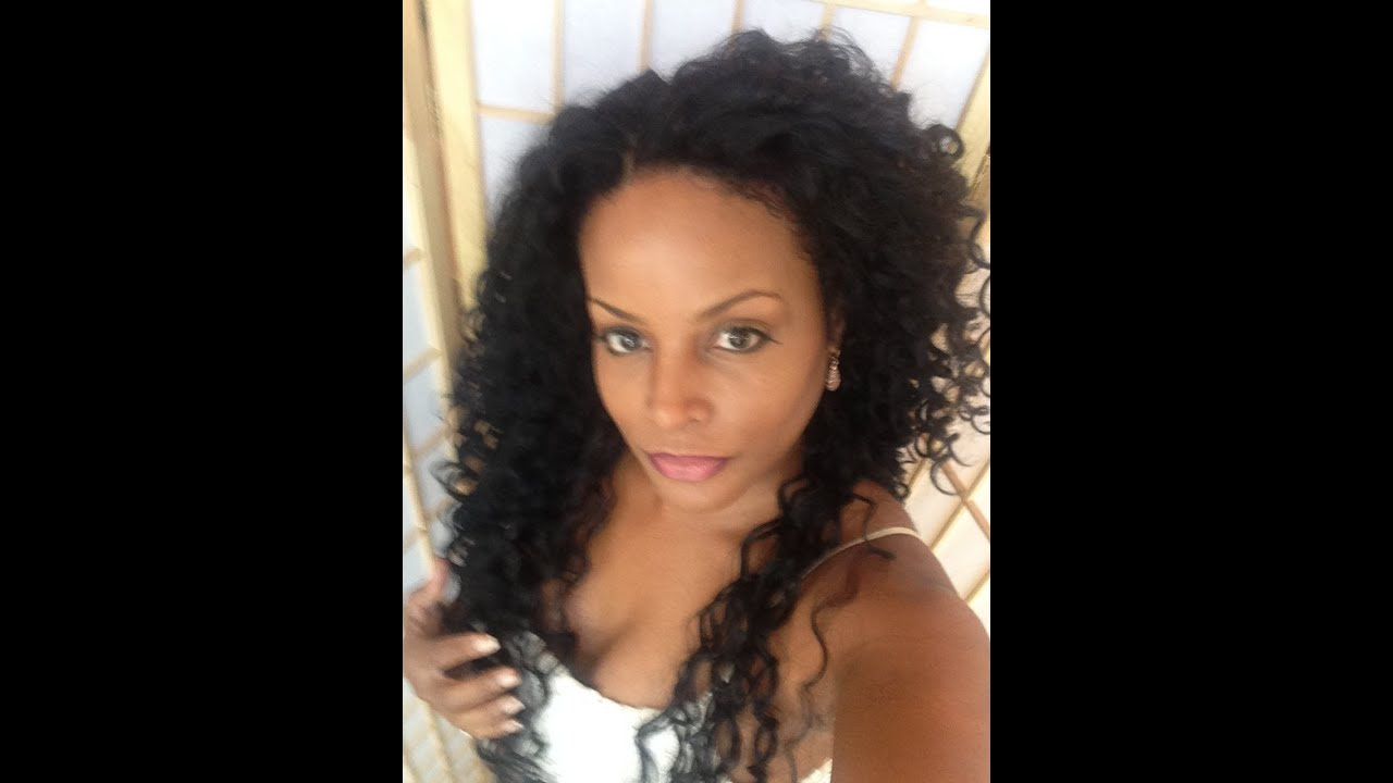 Tutorial How To Lace Front Curly Baby Hair Weave