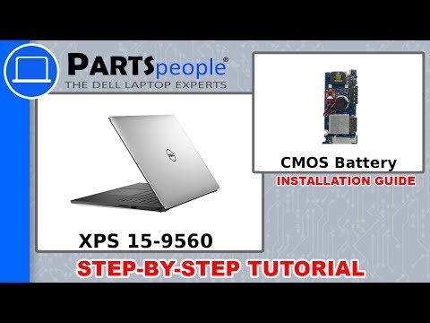 Dell XPS 15-9560 (P56F001) CMOS Battery How-To Video Tutorial