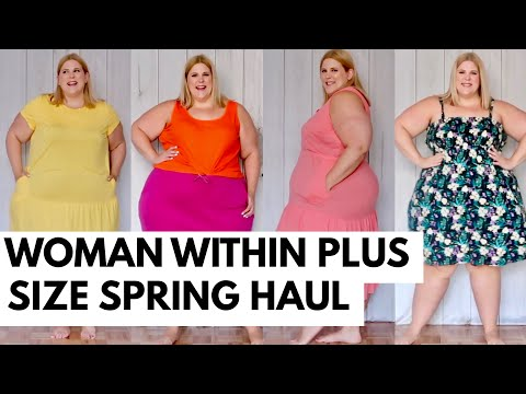 Woman Within Affordable Spring Basics Plus Size Haul + Puppies.