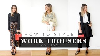 How To Style Trousers for Work (Office Attire)  + 4 OUTFIT LOOK BOOK