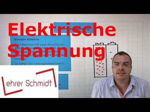 Elektrische Spannung | Elektrizität - Physik | Lehrerschmidt