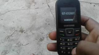 how to hard reset samsung gt e1200 t with code in hindi