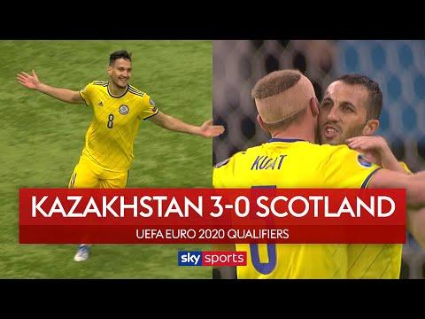 Kazakhstan 3-0 Scotland   Highlights   UEFA Euro 2020 Qualifiers