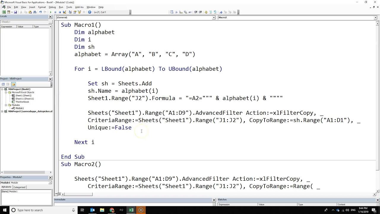 Cách tách 1 bảng dữ liệu ra nhiều sheet hoặc nhiều file khác nhau