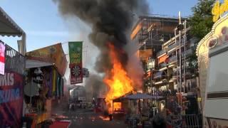 Vuurzee bij brand op Kermis Tilburg