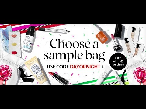 Sephora Dayornight Sample Bag Unboxing
