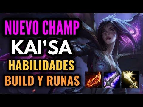 NUEVO CAMPEON Kai'Sa - La Hija del Vacio - Habilidades, Runas y Builds de KAISA! League of Legends