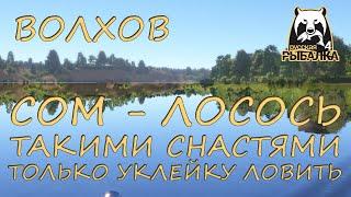 Русская рыбалка 4 Волхов Фарм Спиннинг Лосось атлантический Сом Воблеры