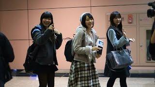 【Full HD】20141206 HKT48 指原莉乃宮脇咲良多田愛佳@台湾桃園国際空港.