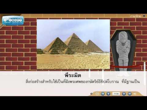 บทเรียนช่วยสอนวิชาภาษาไทย ป.4 - เรียนรู้คำศัพท์เรื่องกระดาษนี้มีที่มา