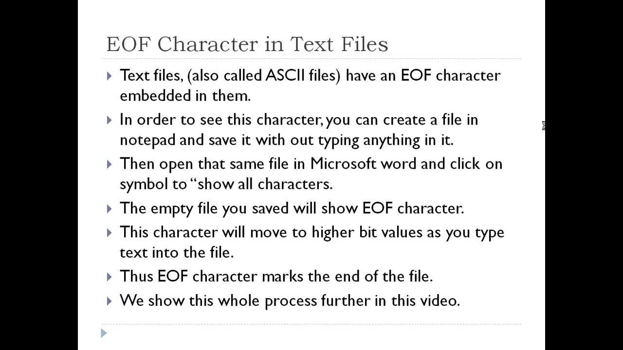 Eof in textfiles youtube eof in textfiles buycottarizona Image collections