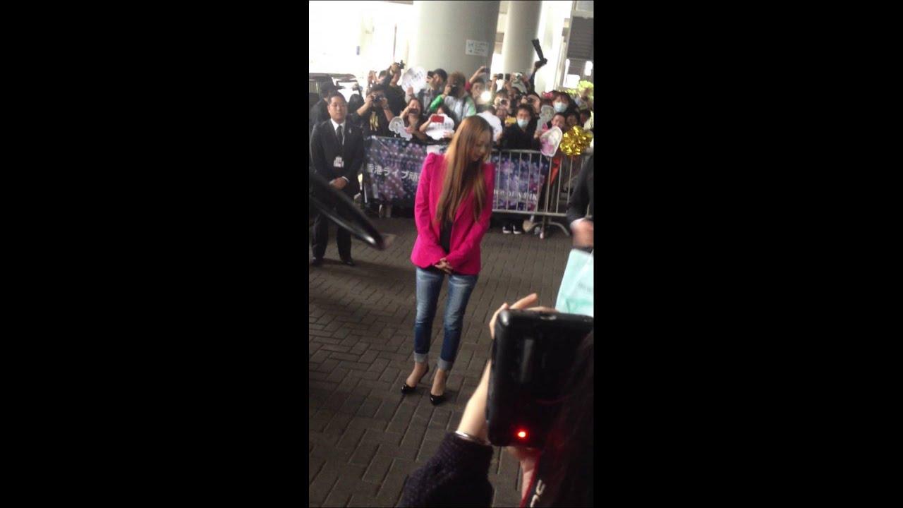 安室奈美惠 香港 機場 安室奈美恵 香港 空港 2013.3.14 aisa tour amuro part 1/2 - YouTube