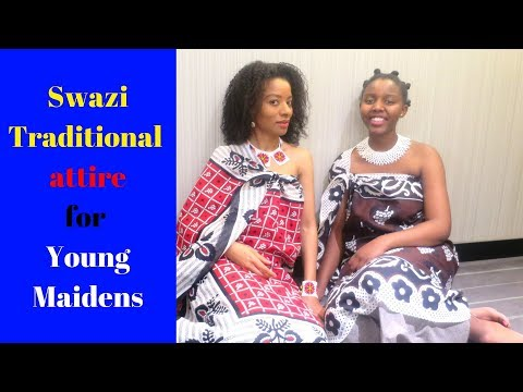 How To Wear Swazi Maiden Traditional Attire| Swazi YouTuber in SA| 08 Sept 2017
