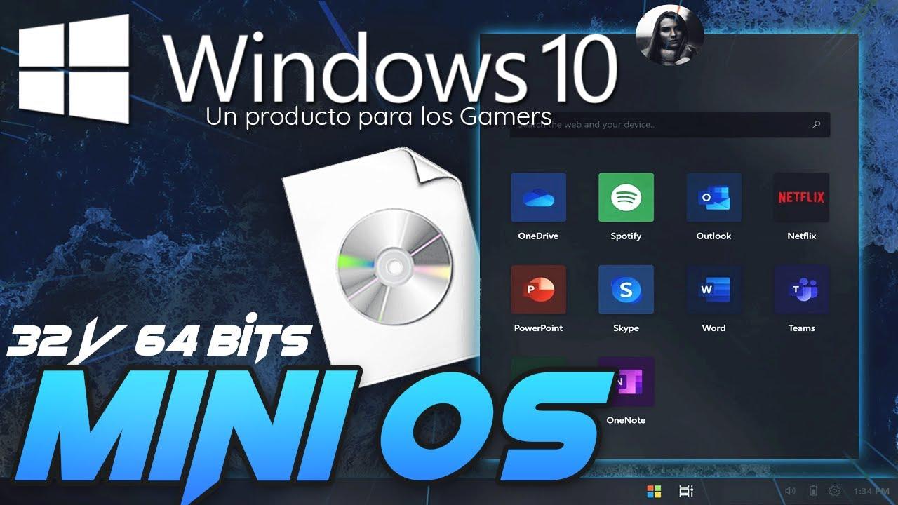 NUEVO Windows 10 Mini OS DEBES de TENERLO  / PC bajos recursos