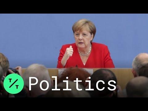 Angela Merkel Slams Trump for Attacks on Congresswomen