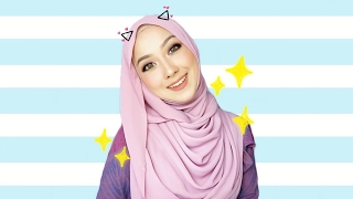 Casual Shawl Tutorial   Aisha Liyana