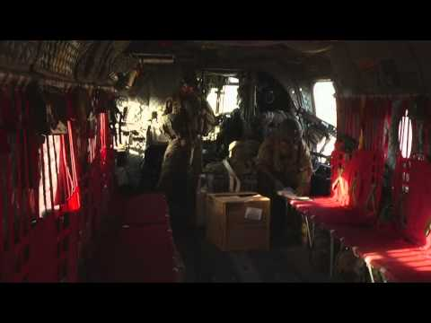 CH-47 Crew working in Afghanistan (Raw footage)