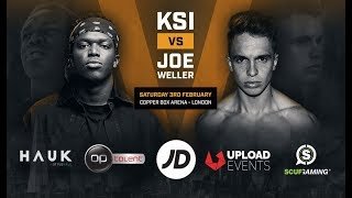 KSI vs Joe Weller - Copper Box Arena February 3rd 2018