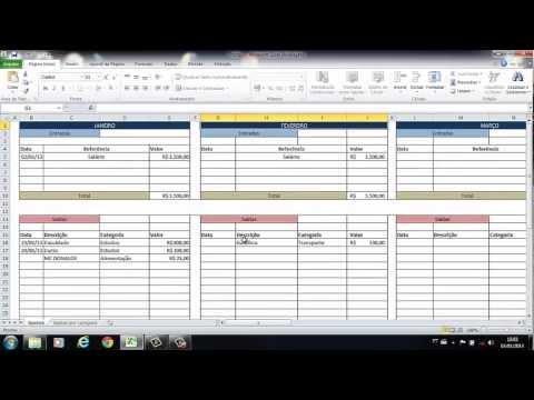 Planilha De Gastos Pessoais Excel 2010