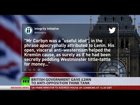 Anti-Russia charity receiving govt cash targeted Corbyn, Labour fuming