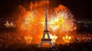 Live: Bastille Day Fireworks Eiffel Tower Paris, Nice in  France 7/14/17