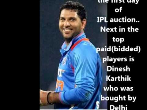 Yuvaraj Singh Bidded for Whooping 14 Crores by Royal Challengers Bangalore