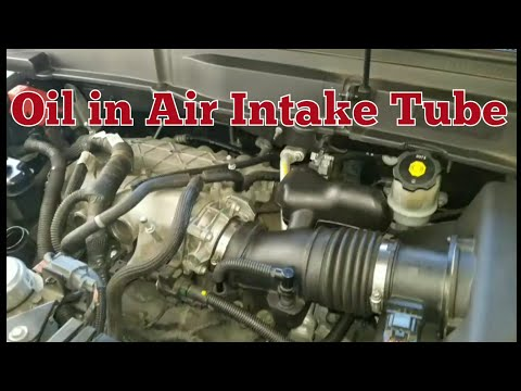 Oil in air intake tube from pcv breather - GM Enclave