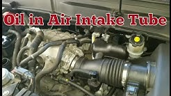 Oil in air intake tube from pcv breather - GM Enclave Outlook Traverse Acadia