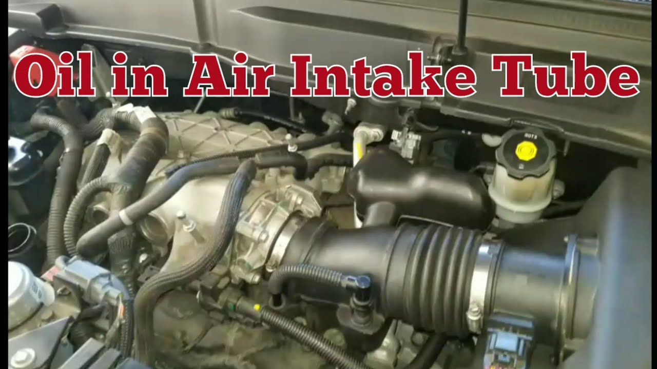 Oil in air intake tube from pcv breather  GM Enclave