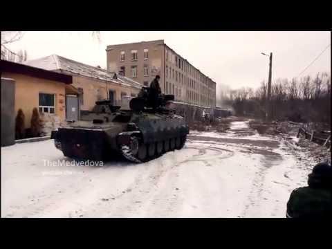 18.02.2015 Debaltseve, street