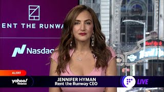Rent the Runway jumps in trading debut