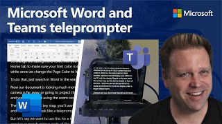 How to use Micr๐soft Word and Teams as a teleprompter for presentations