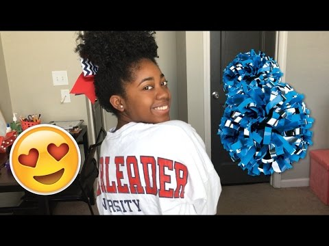 Natural Hair Bun For Cheerleading