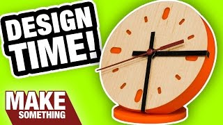 Making an acrylic and wood veneer clock. Improve your design skills with this easy project. Subscribe for weekly woodworking...