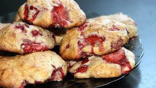 Быстрое печенье с клубникой. Простой рецепт