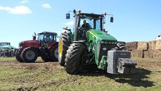 John Deere 8430 Pulling The Heavy Sledge at Sdr. Vissing Pulling Arena   Tractor Pulling DK