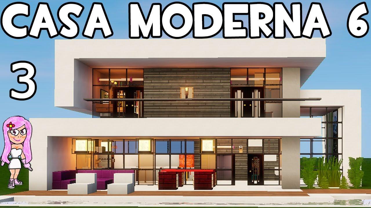 Casa moderna 6 en minecraft parte 3 c mo hacer y decorar for La casa moderna
