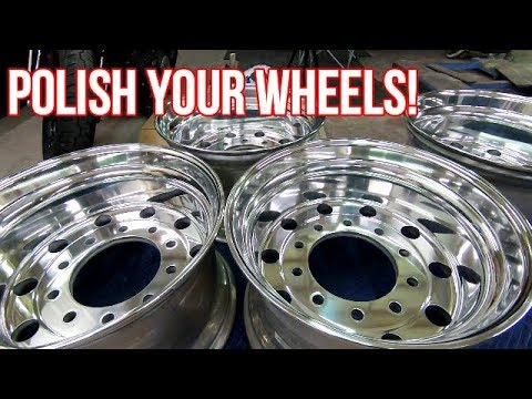 How To Polish And Buff Your Aluminum Wheels To A Mirror Finish Youtube