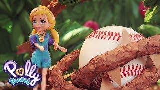 Polly Pocket⚾️💜🌈 Baseball Blooper ⚾️💜🌈Polly Pocket Toy Play ⚾️💜🌈Videos for Kids
