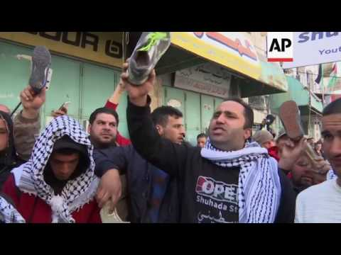 Hebron protest against Trump's MidEast policies