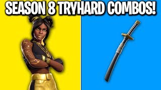 6 SEASON 8 TRYHARD SKIN COMBOS! Fortnite Season 8 SKIN COMBOS! (Tryhard Skin Combos Season 8)
