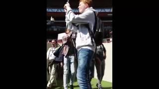 Vierdejaars Leiepoort campus Sint-Hendrik bezoeken Wembley Stadium in Londen